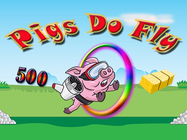 Splash screen for the game Pigs Do Fly